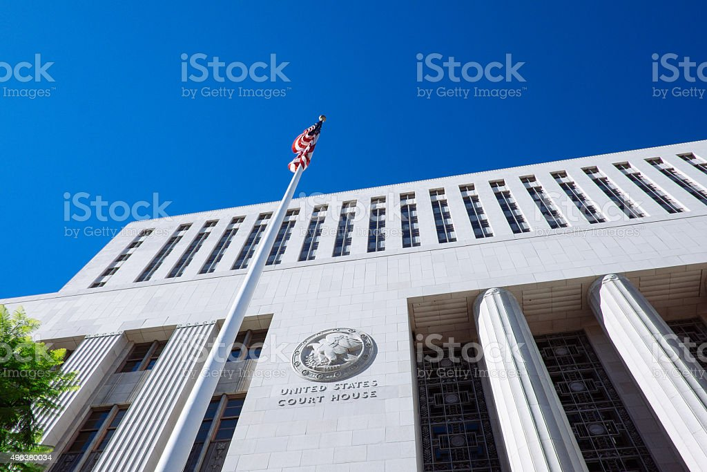 Los Angeles Court House stock photo
