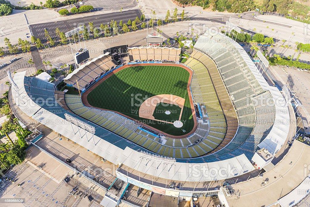 Los Angeles Dodger Stadium Aerial stock photo