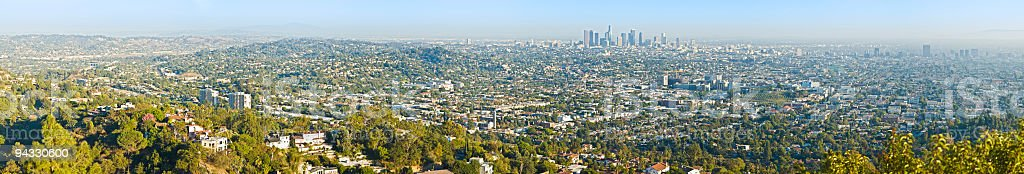 Los Angeles downtown and suburbs royalty-free stock photo
