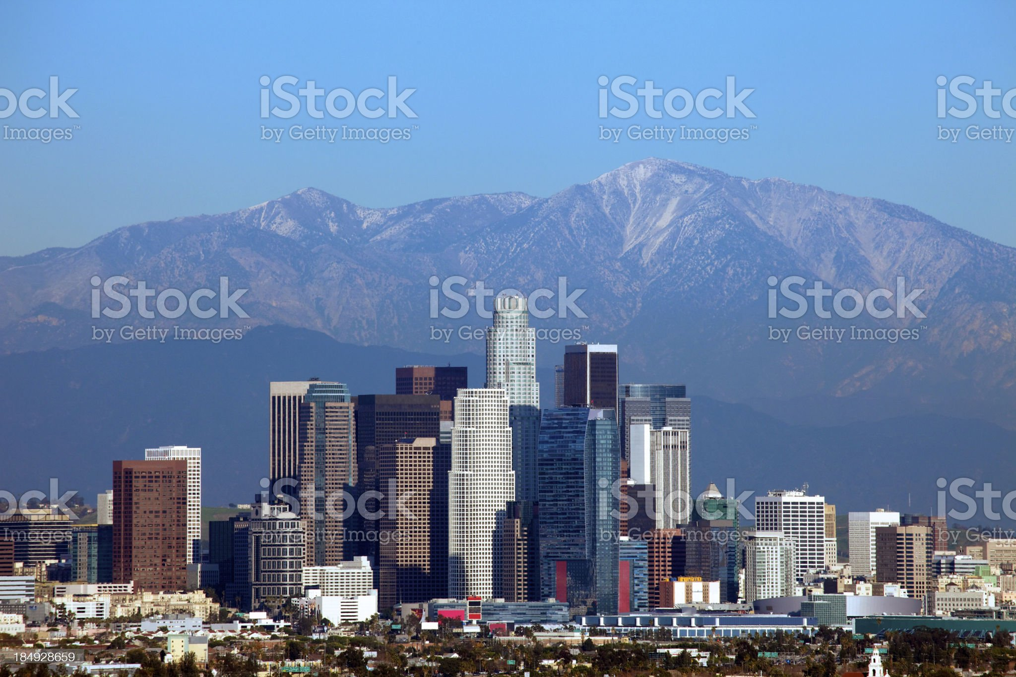 Los Angeles Downtown royalty-free stock photo