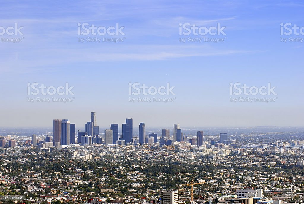 Los Angeles Downtown Skyline from the North royalty-free stock photo