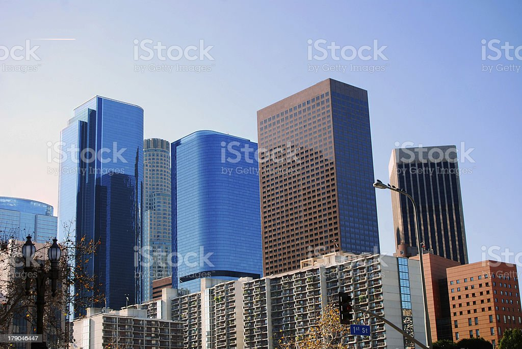 Los Angeles First Street royalty-free stock photo