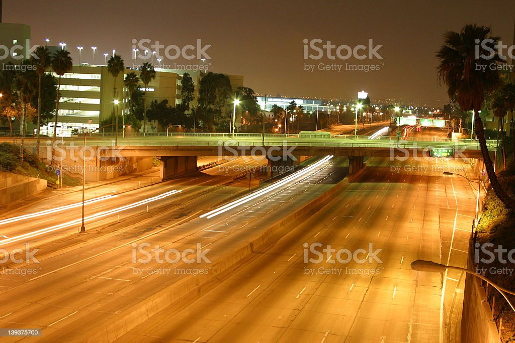 Los Angeles Freeway stock photo