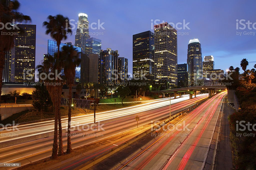 Los Angeles Freeway royalty-free stock photo