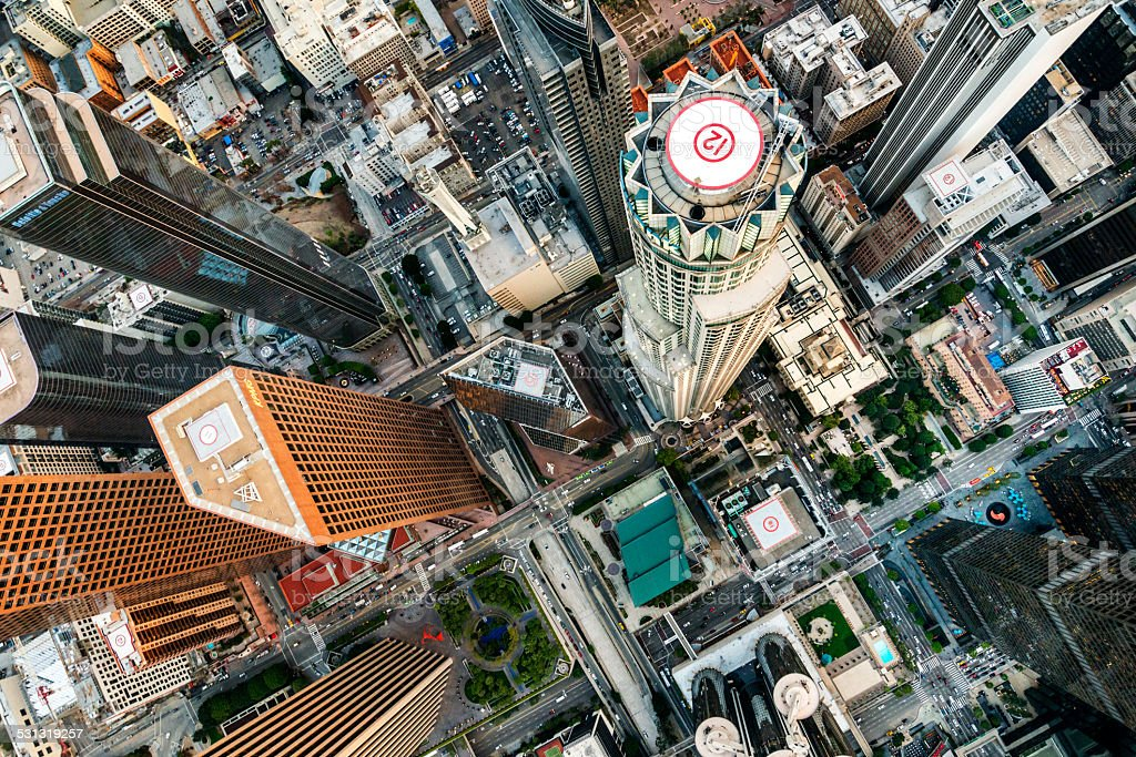 Los Angeles from above stock photo