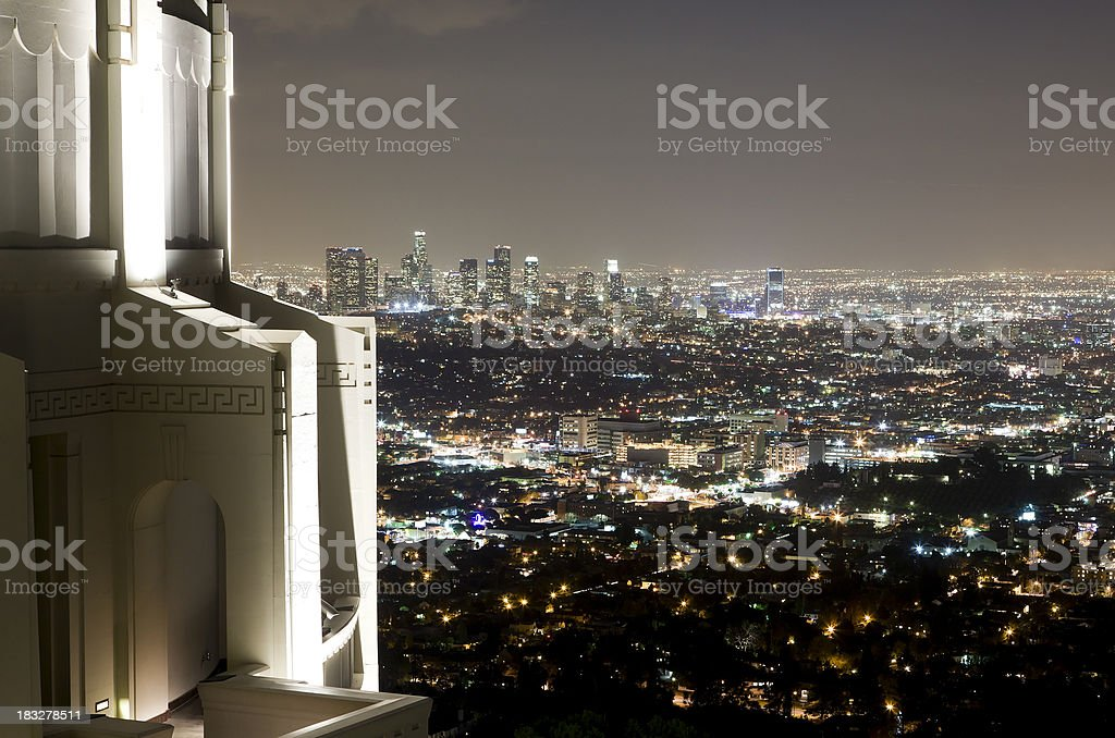 Los Angeles from Griffith Park Observatory royalty-free stock photo