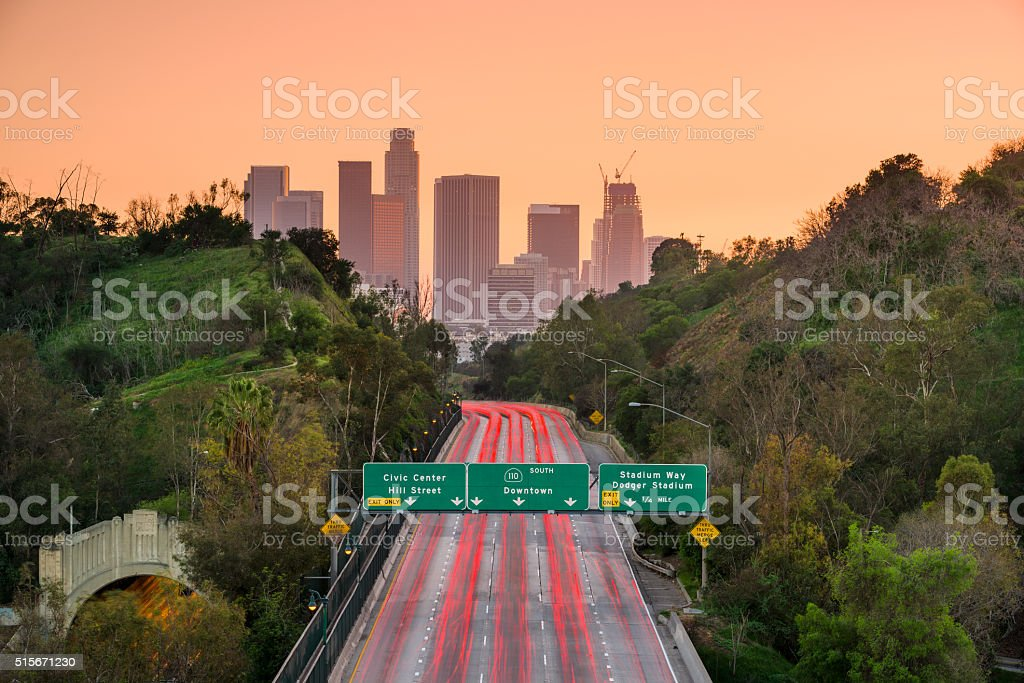 Los Angeles Highway stock photo