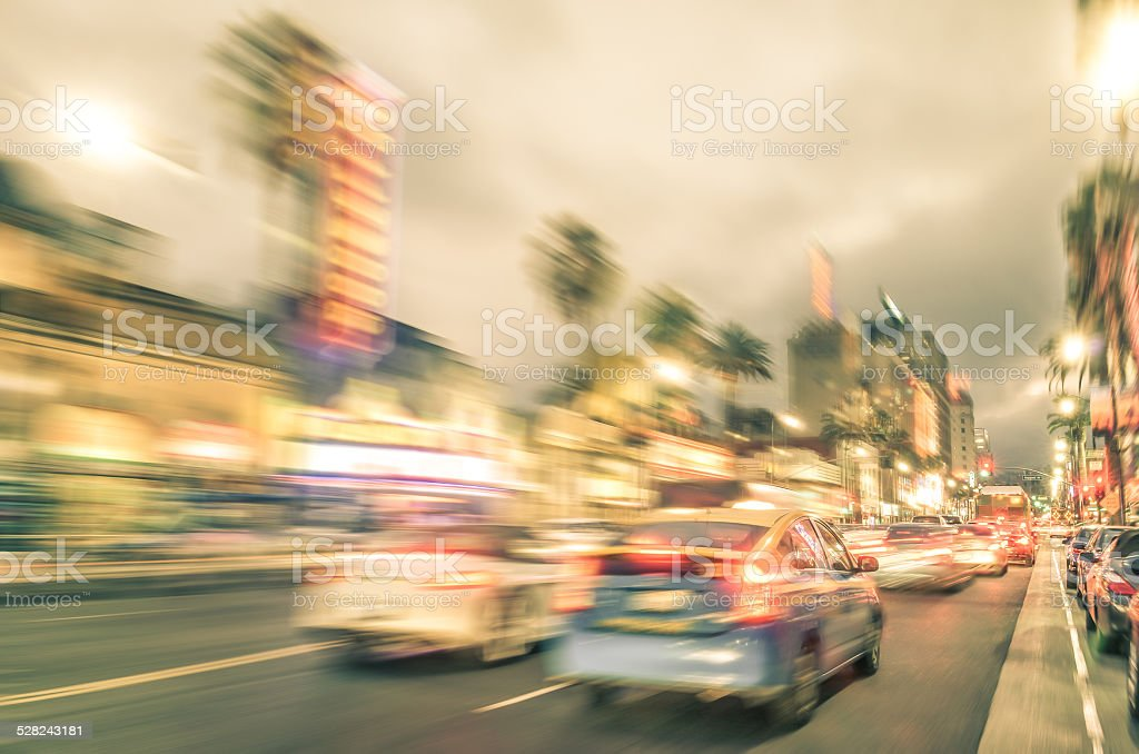 Los Angeles - Hollywood Boulevard - Walk of Fame stock photo