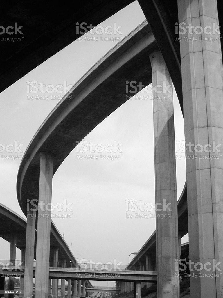 Los Angeles Interchange II stock photo