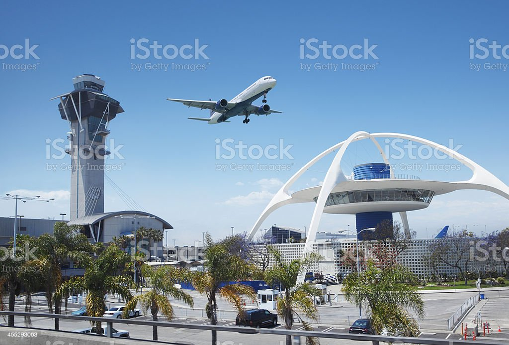 Los Angeles international airport stock photo