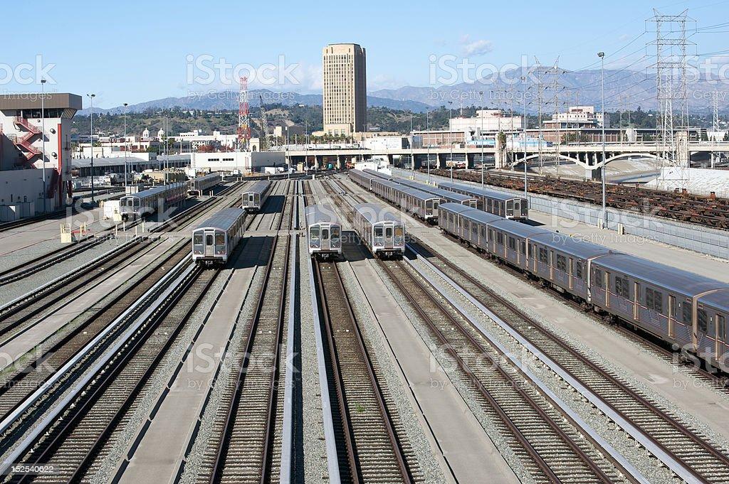 Los Angeles Metro royalty-free stock photo