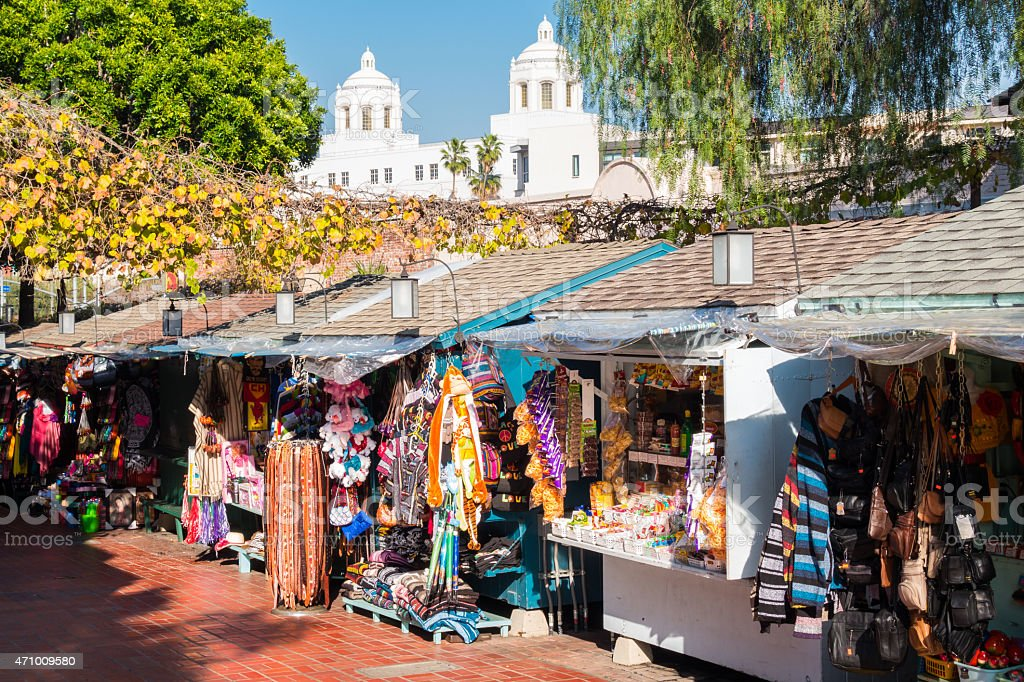 Los Angeles Olvera Street Market Souvenirs stock photo