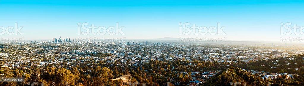 Los Angeles panorama stock photo