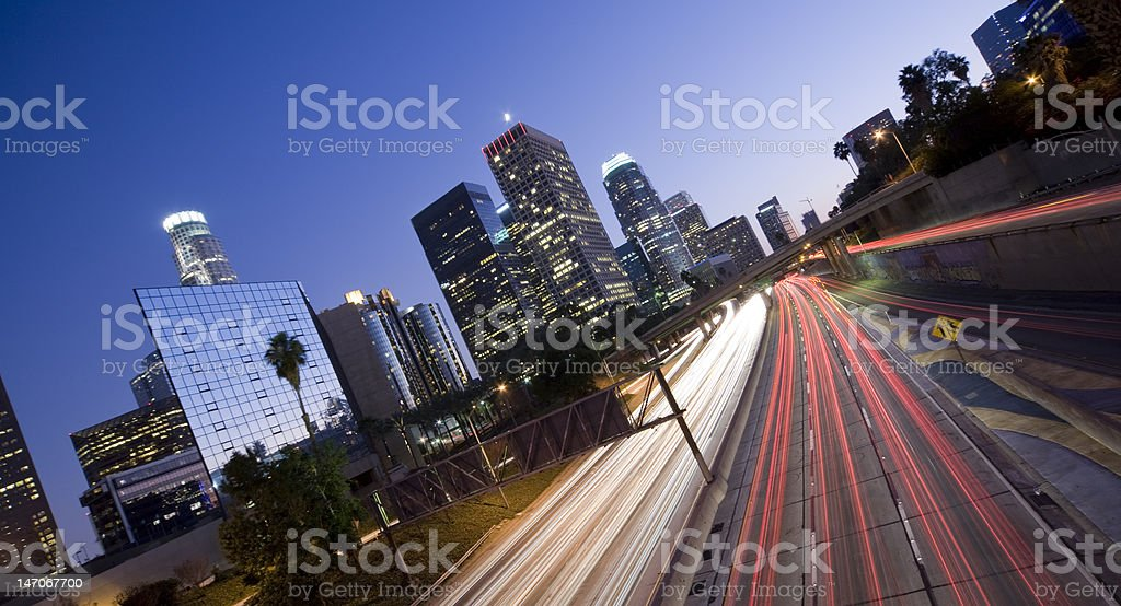 Los Angeles Panoramic royalty-free stock photo