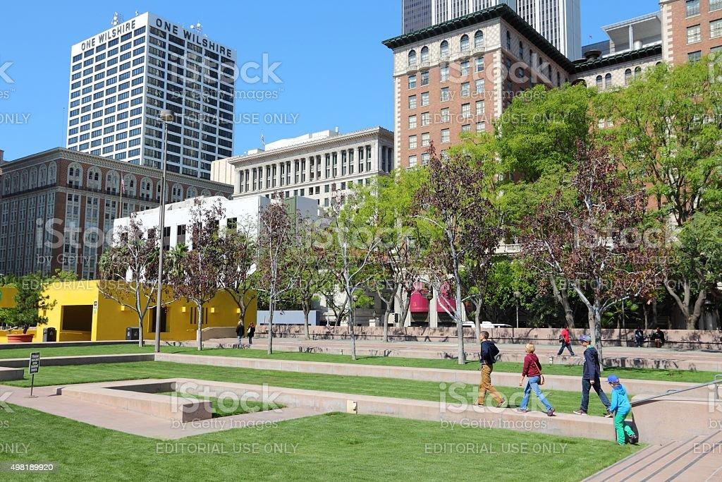 Los Angeles Pershing Square stock photo