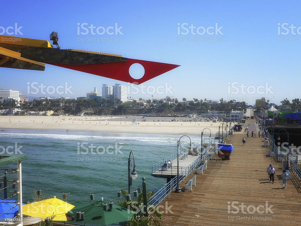 Los Angeles Pier royalty-free stock photo