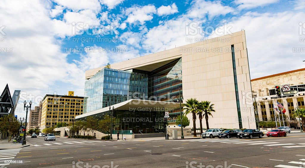 Los Angeles Police Department Junction stock photo
