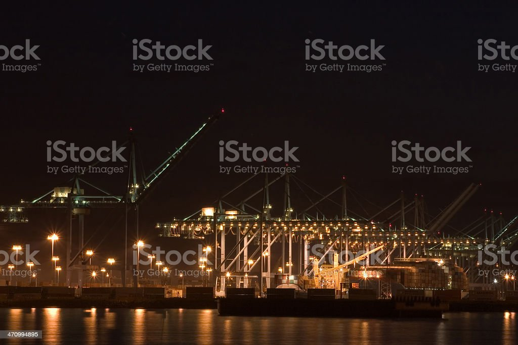 Los Angeles Port 05 royalty-free stock photo