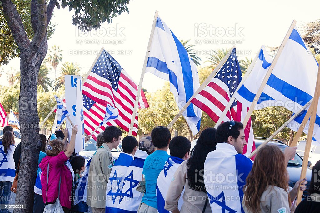 Los Angeles Rally for Israel stock photo