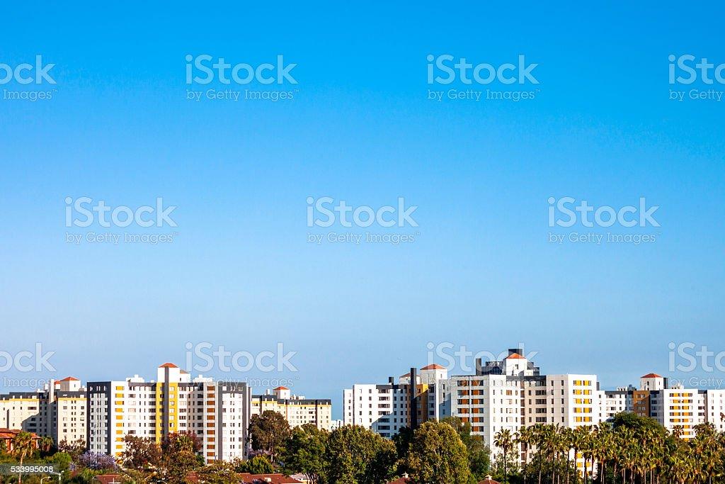 Los Angeles residential area - La Brea. stock photo
