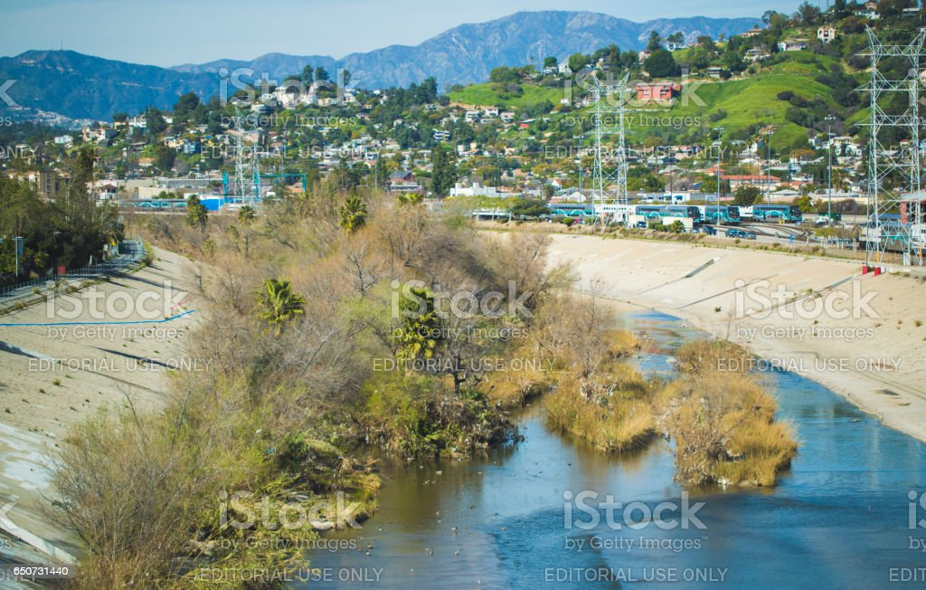 Los Angeles River stock photo