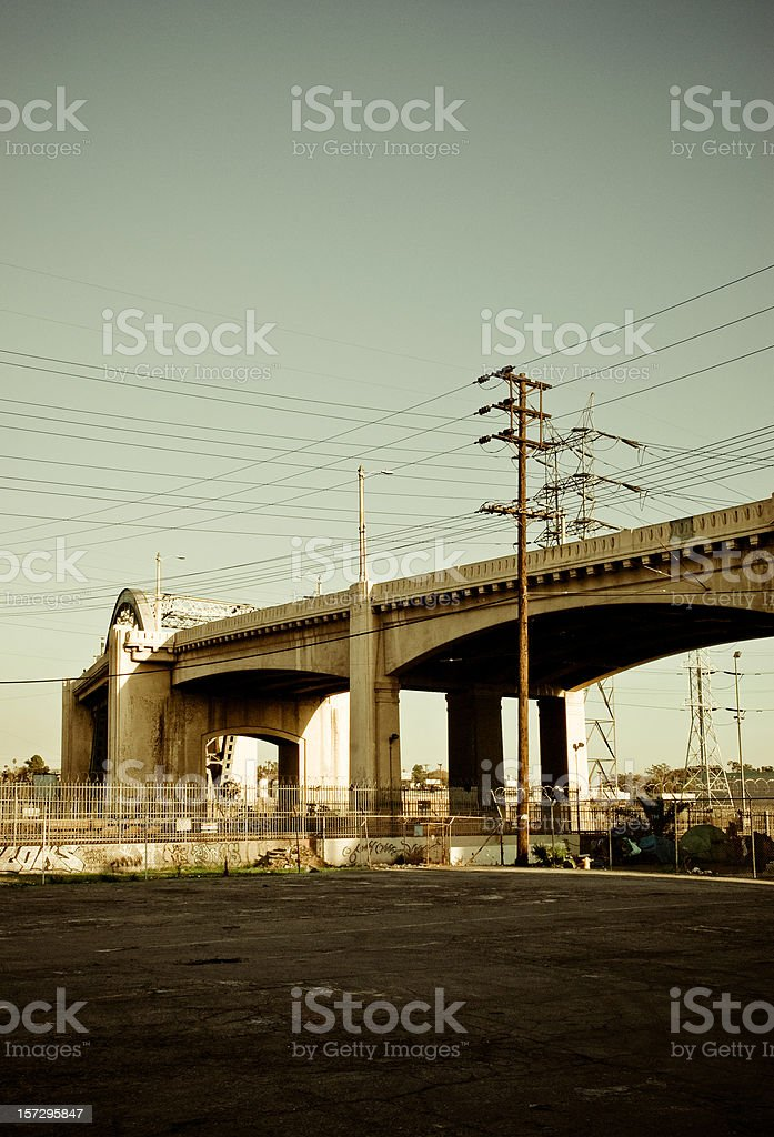 los angeles scene stock photo