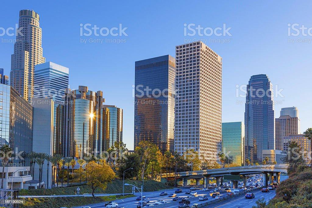 Los Angeles skyline, CA royalty-free stock photo