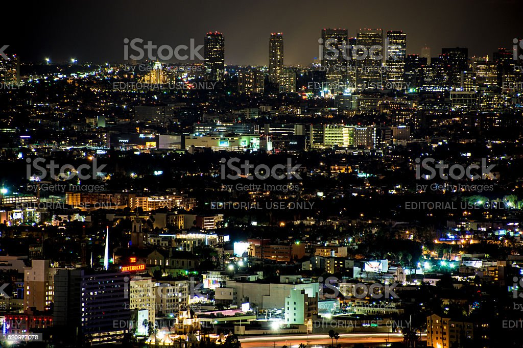 Los Angeles Skyline Detail stock photo