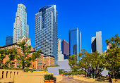 Los Angeles skyline from Pershing Square, California