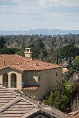 Los Angeles Skyline Seen from Fullerton in Orange County California