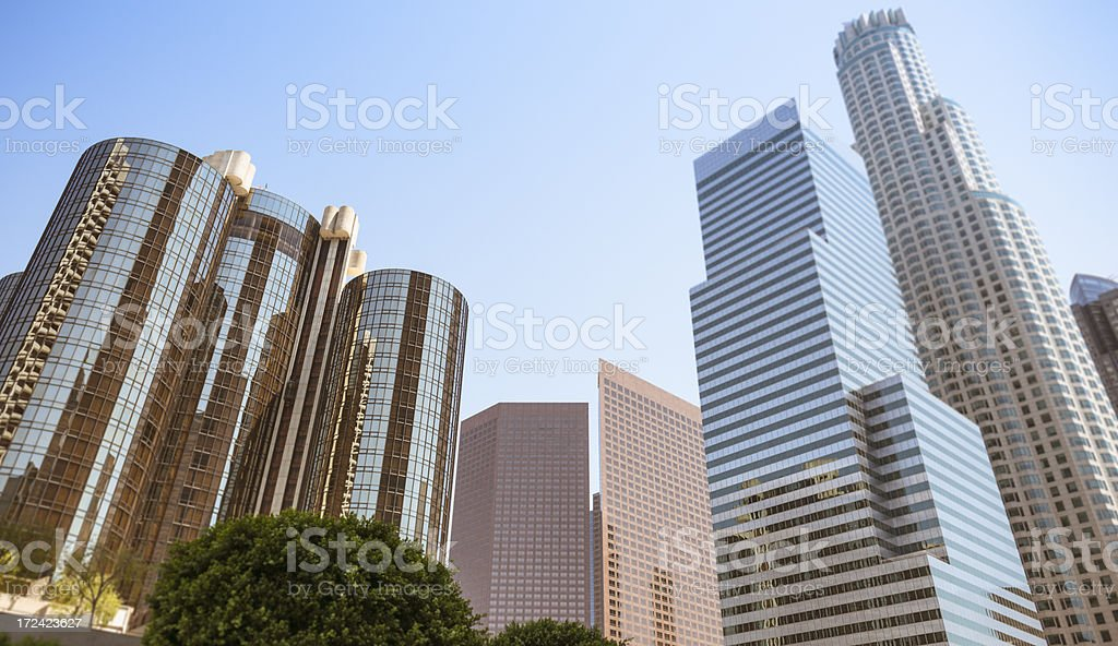 Los angeles skyscraper on the downtown royalty-free stock photo