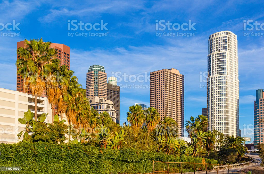 Los Angeles skyscrapers (P) royalty-free stock photo