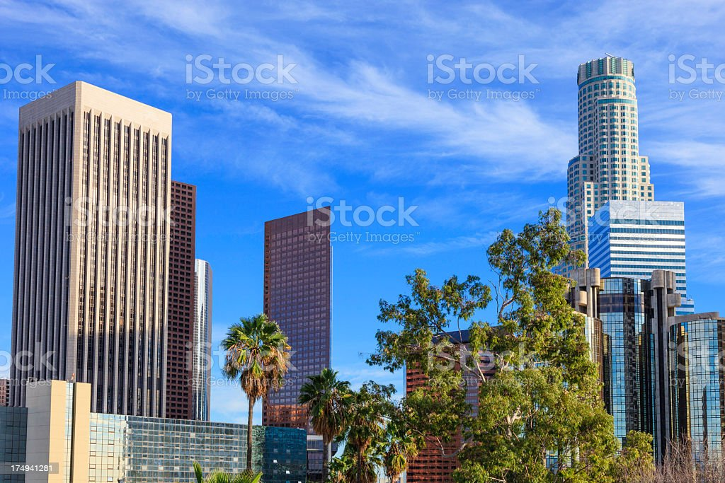 Los Angeles skyscrapers royalty-free stock photo
