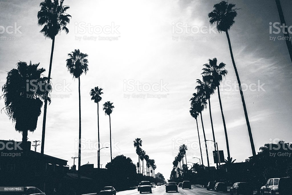 Los Angeles streets. stock photo