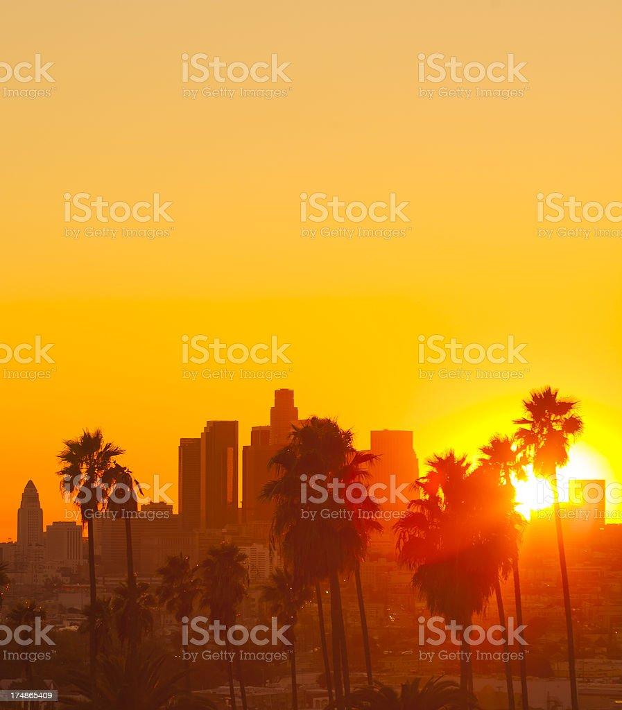 Los Angeles Sunset royalty-free stock photo