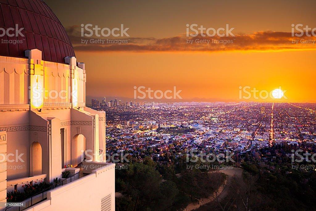 Los Angeles Sunset stock photo