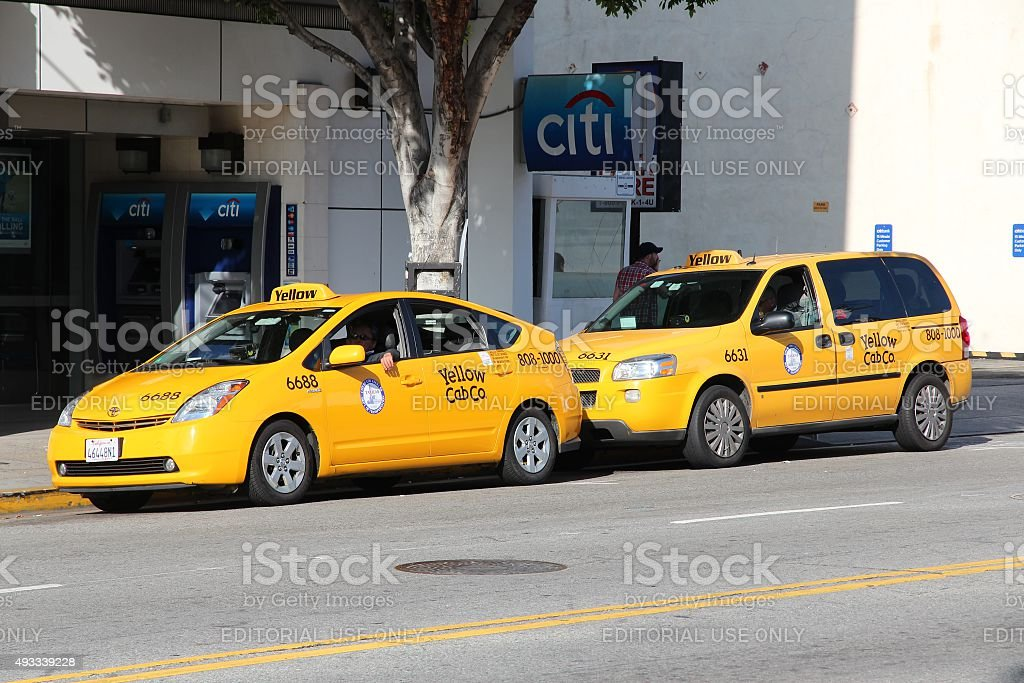 Los Angeles taxi stock photo