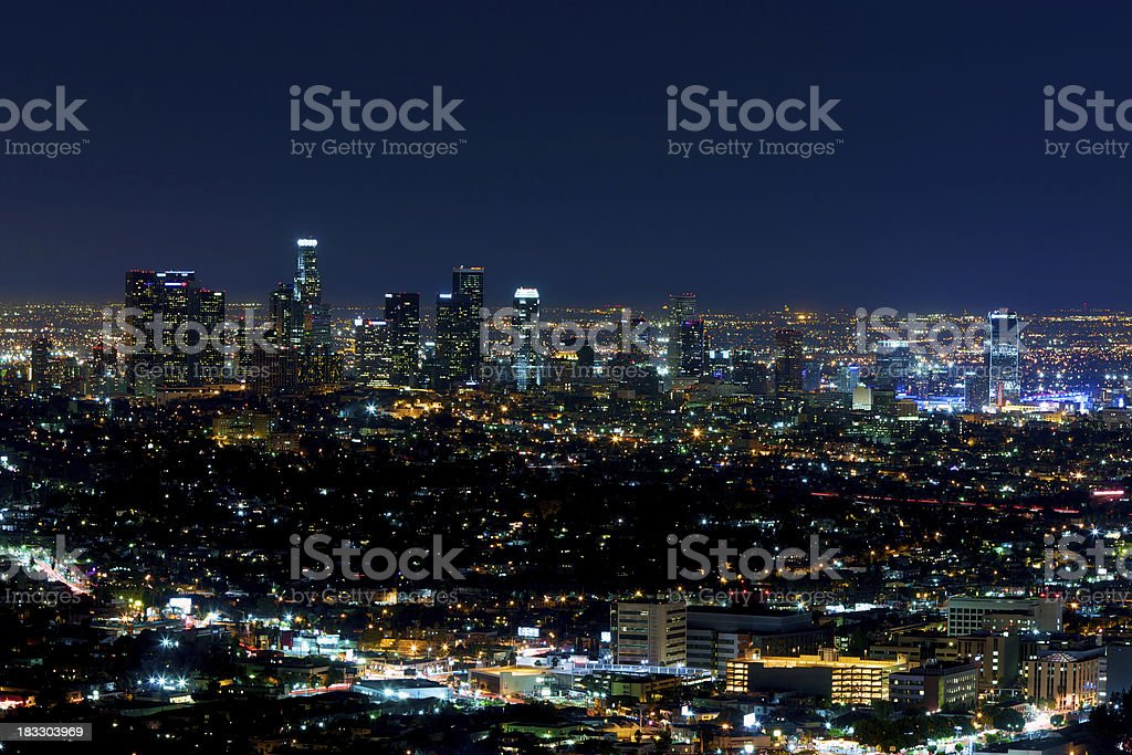 Los Angeles the city of angels royalty-free stock photo
