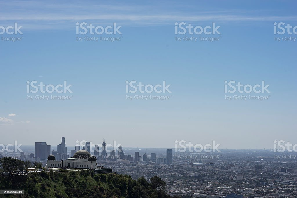 Los Angeles, the Observatory stock photo