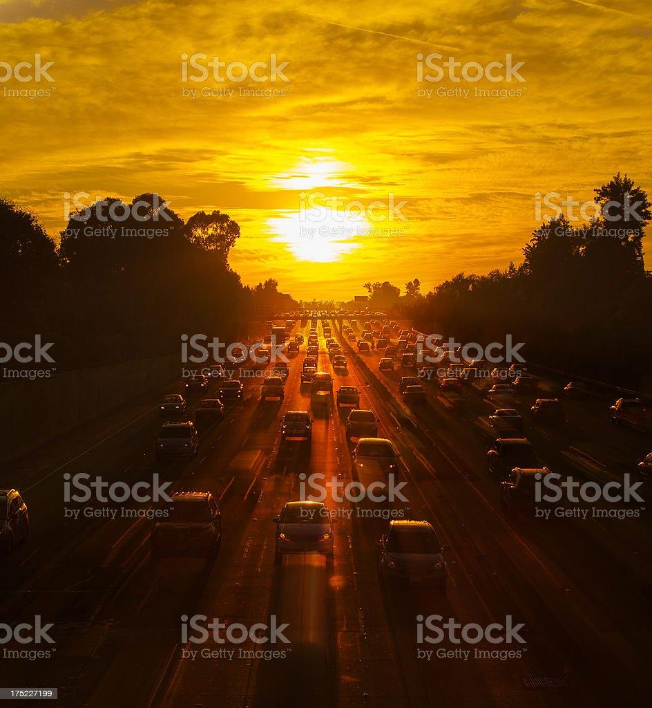 Los Angeles Traffic royalty-free stock photo