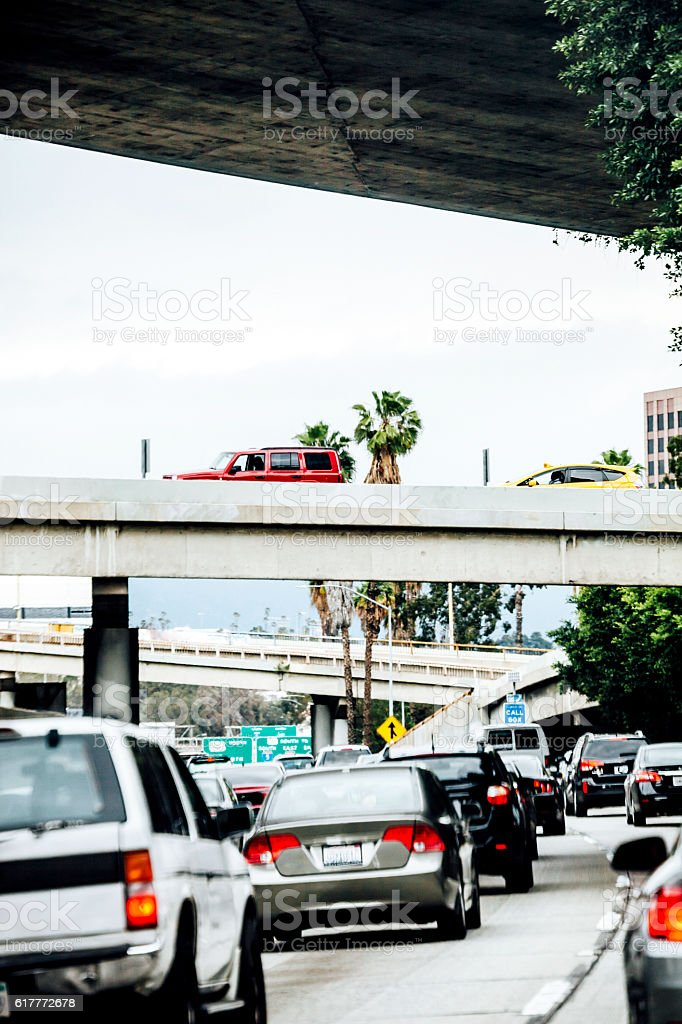 Los Angeles traffic. stock photo