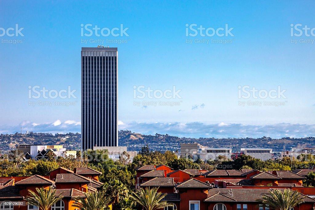 Los Angeles view. stock photo