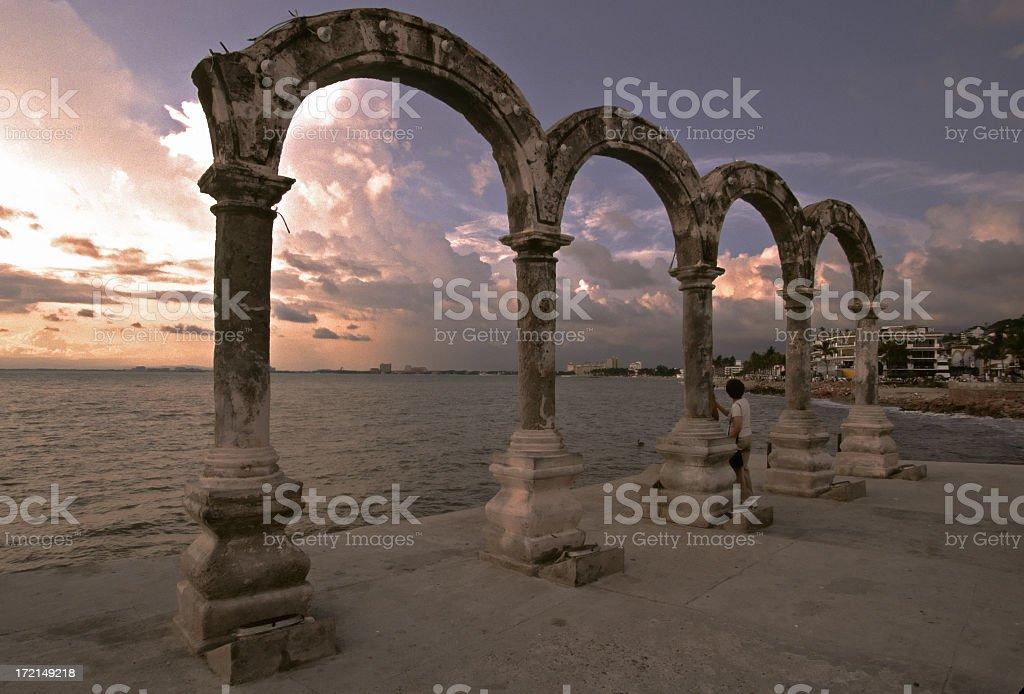 Los Arcos in Puerto Vallarta, Mexico. stock photo