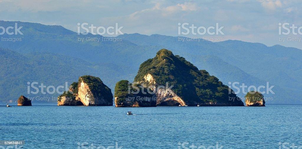 Los Arcos Islands in Puerto Vallarta stock photo