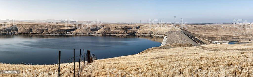 Los Banos Creek Reservoir stock photo