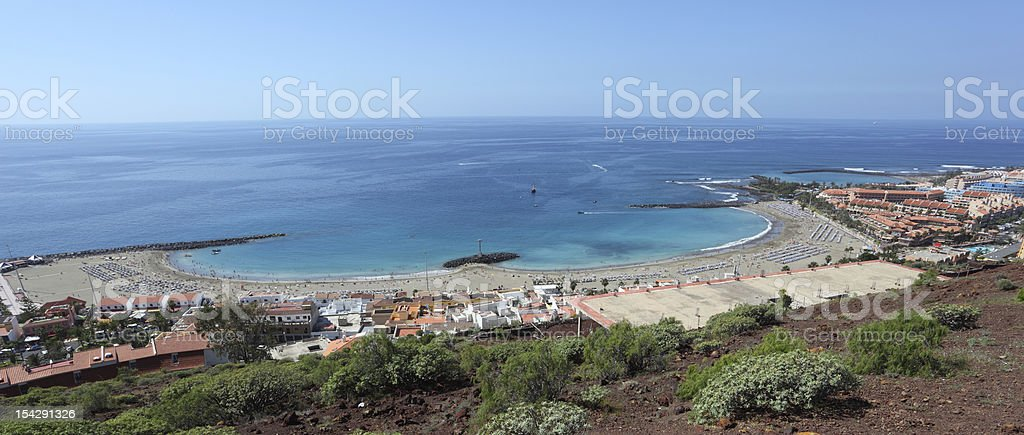 Los Cristianos beach,Tenerife stock photo