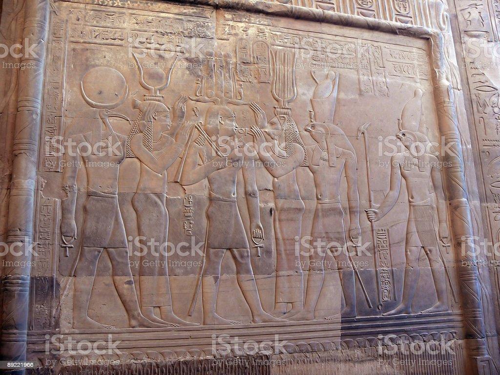 Los Dioses con Ramses II royalty-free stock photo