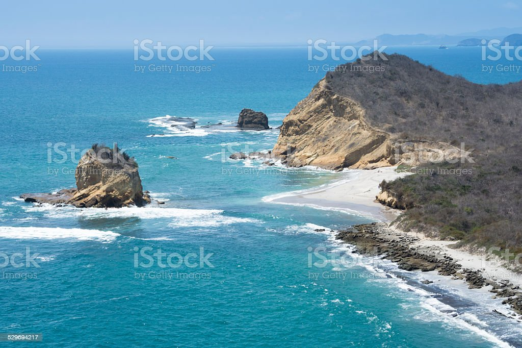 Los Frailes beach, Machalilla national park (Ecuador) stock photo