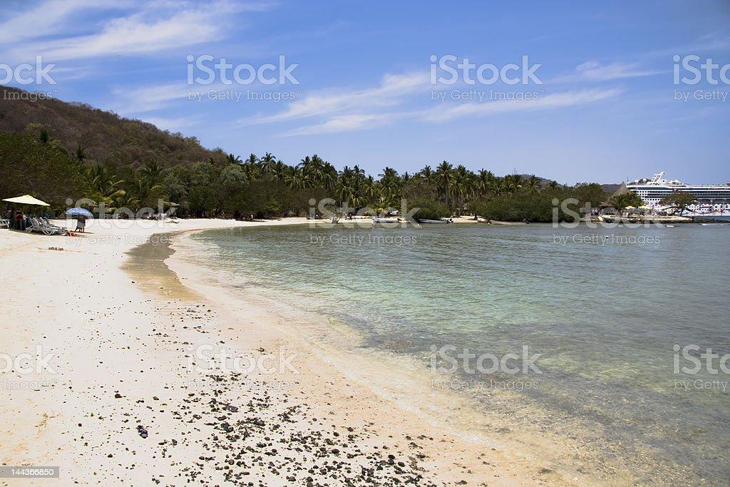 Los Gatos Beach Zihuatanejo, Mexico stock photo