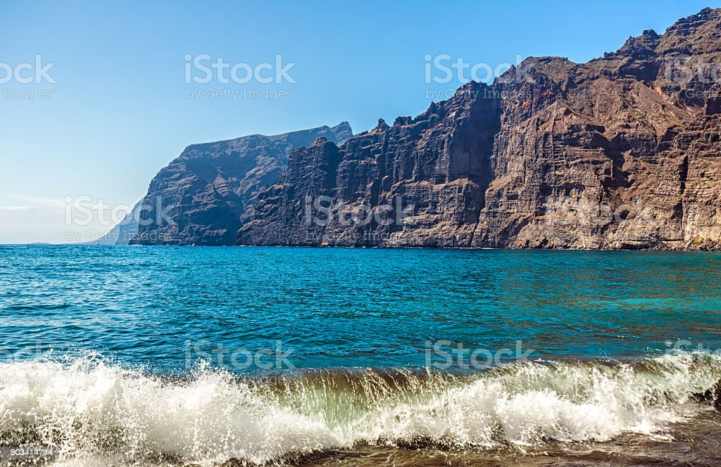 Los Gigantes coast - Tenerife stock photo